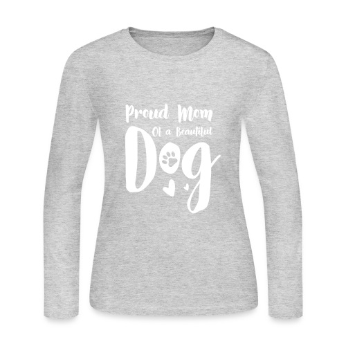 Proud Dog Mom - Women's Long Sleeve Jersey T-Shirt