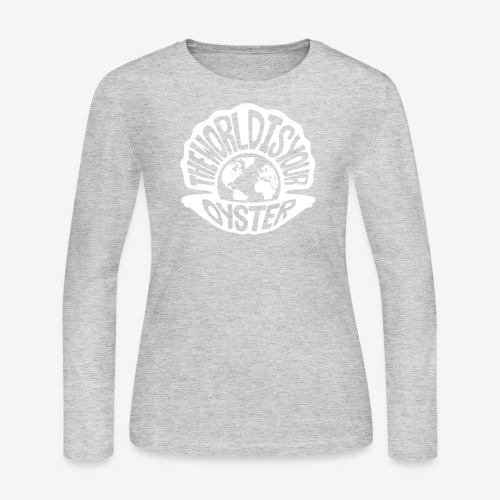 The World Is Your Oyster - Light - Women's Long Sleeve Jersey T-Shirt