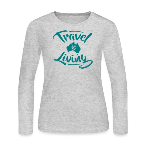 Travel is Living - Women's Long Sleeve Jersey T-Shirt