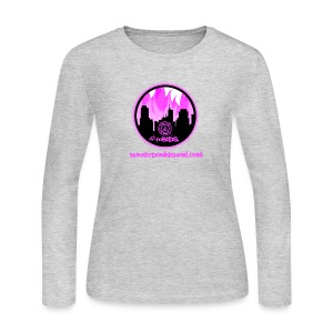 pink logo bid - Women's Long Sleeve Jersey T-Shirt