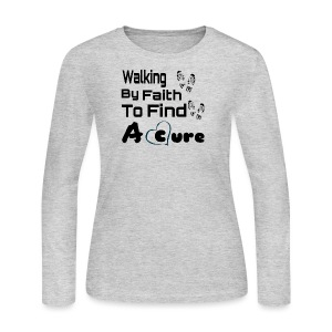 Walking By Faith Lupus Awareness Graphic Tee - Women's Long Sleeve Jersey T-Shirt