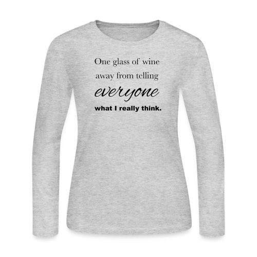 Really think shirt - Women's Long Sleeve Jersey T-Shirt