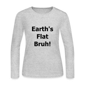 Earths flat - Women's Long Sleeve Jersey T-Shirt
