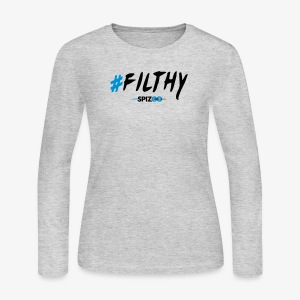 #Filthy white - Spizoo Hashtags - Women's Long Sleeve Jersey T-Shirt