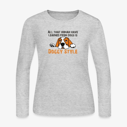 Doggy Style - Women's Long Sleeve Jersey T-Shirt