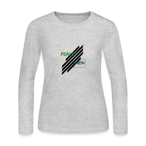 Peace and earth - Women's Long Sleeve Jersey T-Shirt