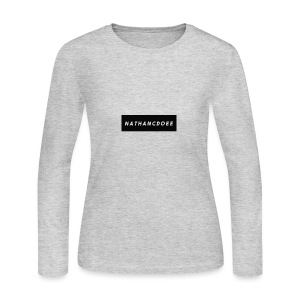 nathancdoee logo - Women's Long Sleeve Jersey T-Shirt