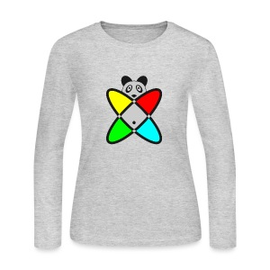 SCIENCE PANDA - Women's Long Sleeve Jersey T-Shirt