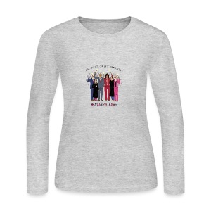 The Order of the Pantsuits: Hillary's Army - Women's Long Sleeve Jersey T-Shirt