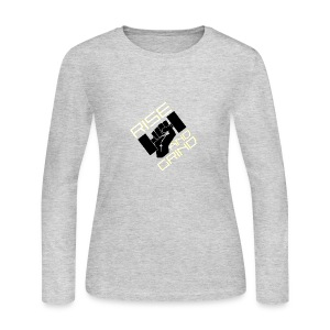 RISE AND GRIND - Women's Long Sleeve Jersey T-Shirt