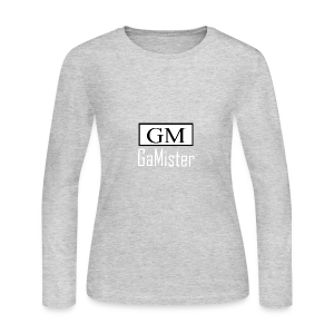 gamister_shirt_design_1_back - Women's Long Sleeve Jersey T-Shirt