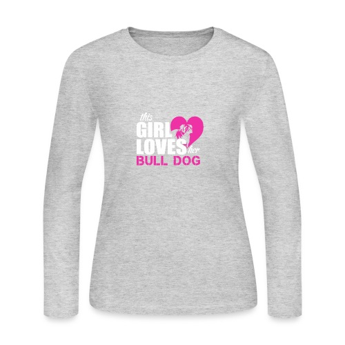 bulldog female - Women's Long Sleeve Jersey T-Shirt