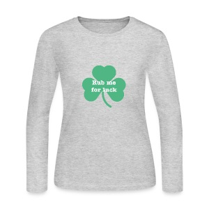 Rub me for luck - Women's Long Sleeve Jersey T-Shirt