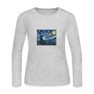 Starry Night Drone - Women's Long Sleeve Jersey T-Shirt