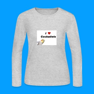 Cockatiels - Women's Long Sleeve Jersey T-Shirt
