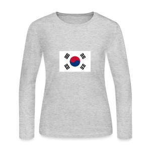 Flag of South Korea - Women's Long Sleeve Jersey T-Shirt