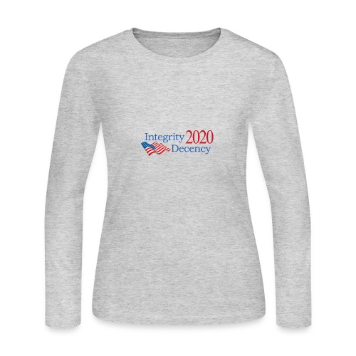 Vote for real American values! - Women's Long Sleeve Jersey T-Shirt