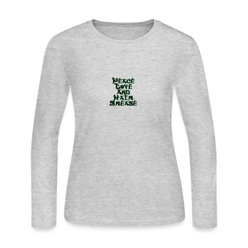 peace love and hair grease - Women's Long Sleeve Jersey T-Shirt