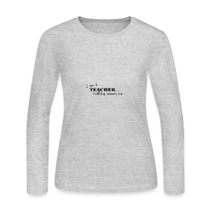 Nothing-Scares-me3 - Women's Long Sleeve Jersey T-Shirt