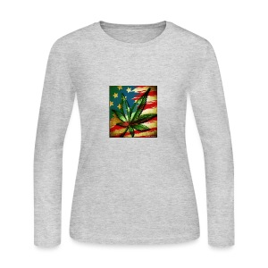 weed freedom weed memes - Women's Long Sleeve Jersey T-Shirt