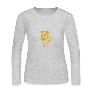 STAY GOLD - Women's Long Sleeve Jersey T-Shirt