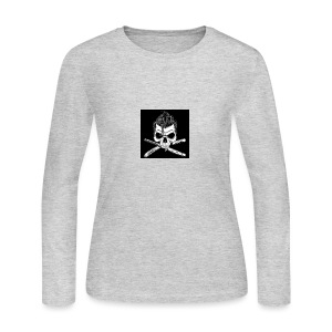 Greaser skull - Women's Long Sleeve Jersey T-Shirt