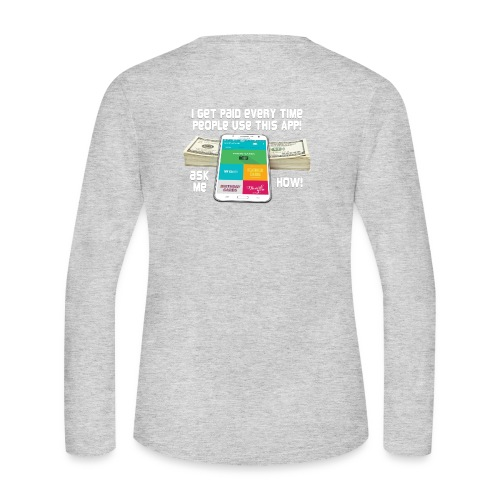 I get paid every time people use this APP - Women's Long Sleeve Jersey T-Shirt