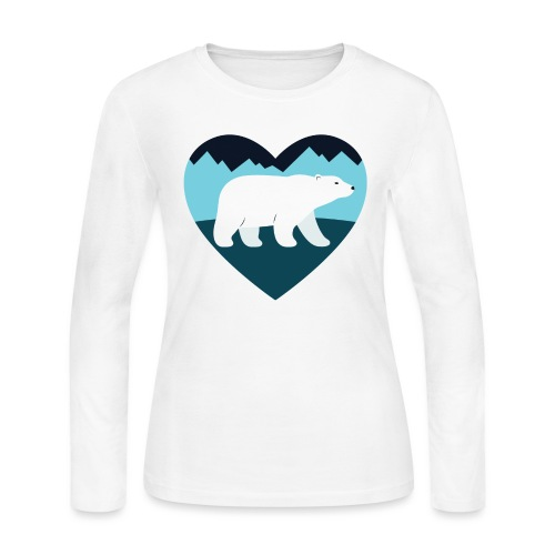 Polar Bear Love - Women's Long Sleeve Jersey T-Shirt