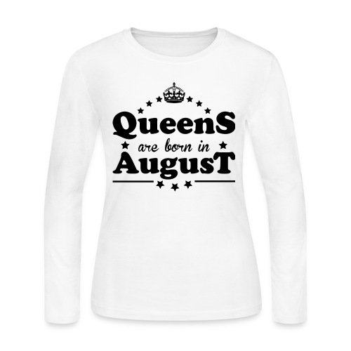 Queens are born in August - Women's Long Sleeve Jersey T-Shirt