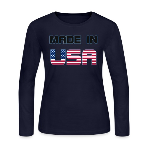 Made in USA - Women's Long Sleeve Jersey T-Shirt