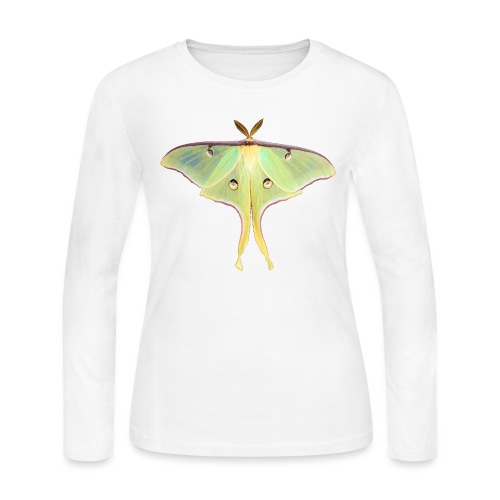 GREEN LUNA MOTH - Women's Long Sleeve Jersey T-Shirt