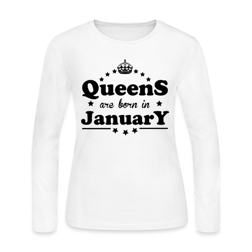 Queens are born in January - Women's Long Sleeve Jersey T-Shirt