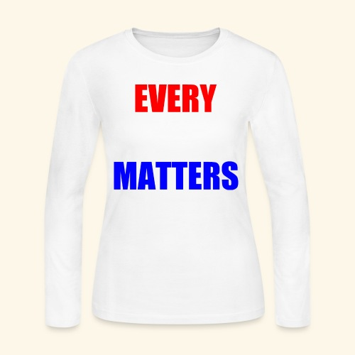 every vote matters - Women's Long Sleeve Jersey T-Shirt