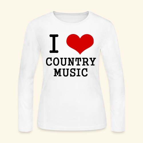I love country music - Women's Long Sleeve Jersey T-Shirt