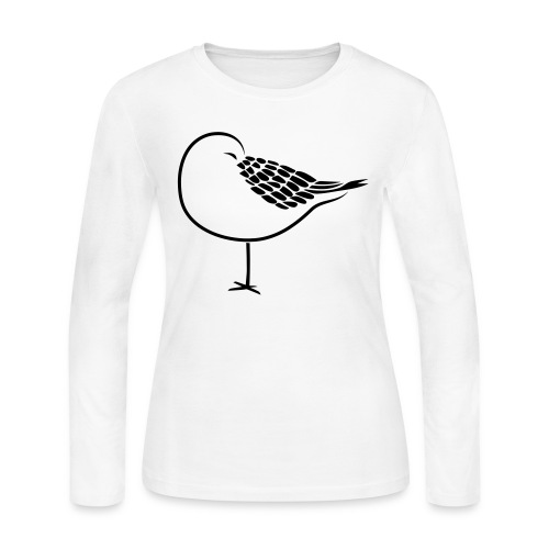 sleeping bird early dove wings seagull feather - Women's Long Sleeve Jersey T-Shirt