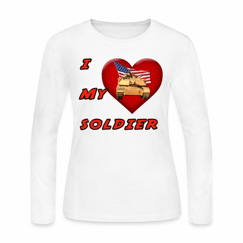 I Heart my Soldier - Women's Long Sleeve Jersey T-Shirt