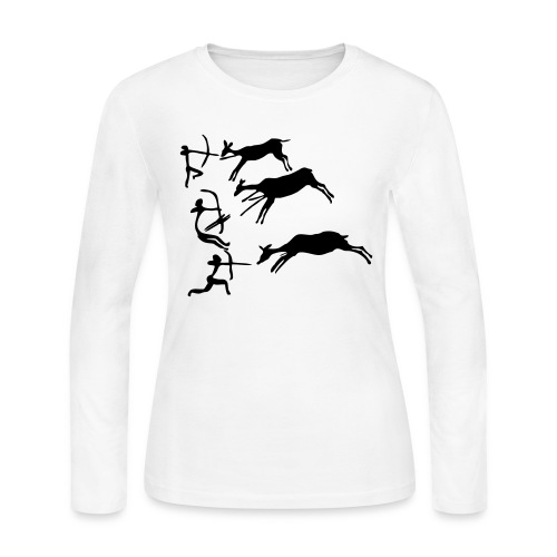 Lascaux Cave Painting - Women's Long Sleeve Jersey T-Shirt