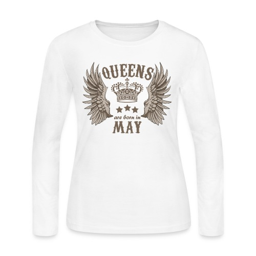 Queens are born in May - Women's Long Sleeve Jersey T-Shirt