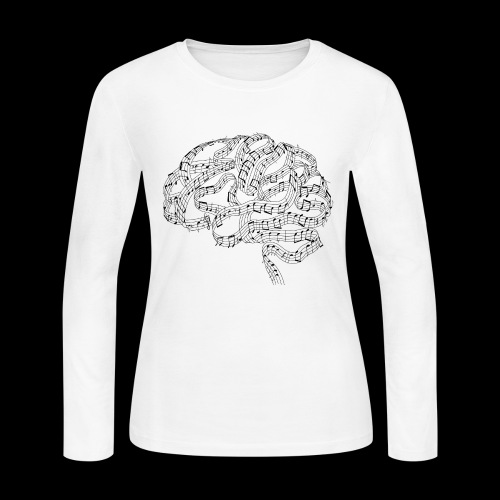 Sound of Mind | Audiophile's Brain - Women's Long Sleeve Jersey T-Shirt