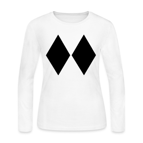 Double Black Diamond - Women's Long Sleeve Jersey T-Shirt