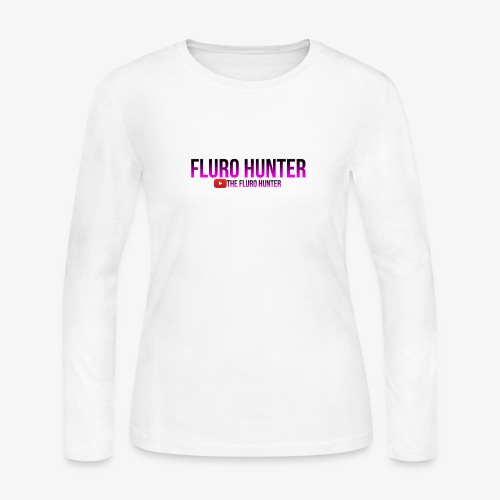 The Fluro Hunter Black And Purple Gradient - Women's Long Sleeve Jersey T-Shirt