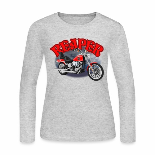 Motorcycle Reaper - Women's Long Sleeve Jersey T-Shirt