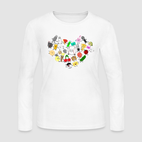 Inanimate Heart Color - Women's Long Sleeve Jersey T-Shirt