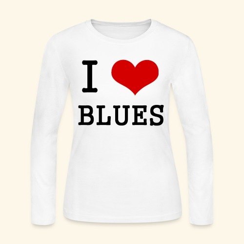 I Heart Blues - Women's Long Sleeve Jersey T-Shirt