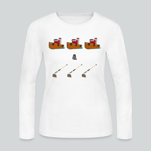 Boats and Hoes - Women's Long Sleeve Jersey T-Shirt
