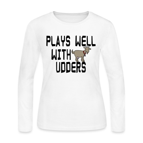 plays well with udders - Women's Long Sleeve Jersey T-Shirt