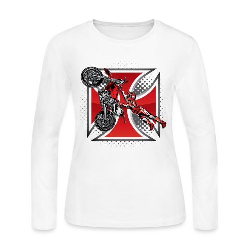 Red Baron Motocross - Women's Long Sleeve Jersey T-Shirt