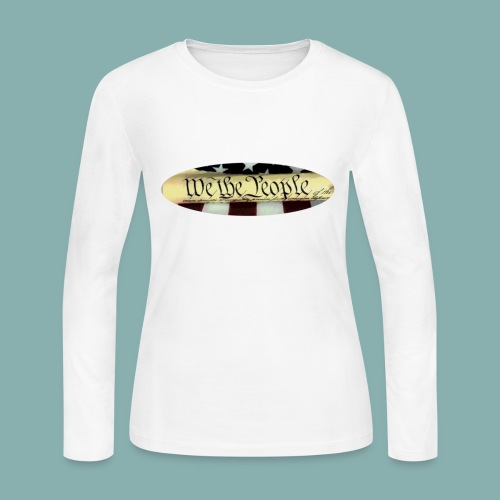We the People color oval - Women's Long Sleeve Jersey T-Shirt