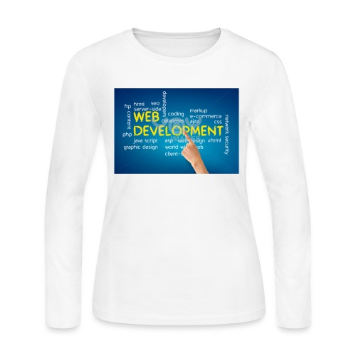 web development design - Women's Long Sleeve Jersey T-Shirt