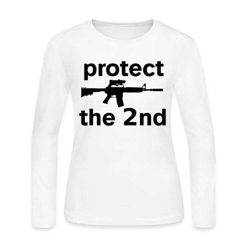 PROTECT THE 2ND - Women's Long Sleeve Jersey T-Shirt